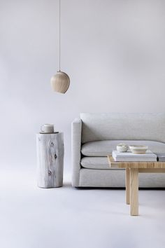 4 Likes, 1 Comments - Kovac Family Crypton Fabric, Alpaca Throw, Floating Nightstand, Birch, Bulb, Living Room, Design, Furniture, Home Decor