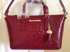 Brahmin Mini Asher Satchel Tote Carmine Red Melbourne Leather J55115100090 | eBay