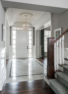 Interior entrance design ideas entrance foyer design ideas foyer ideas foyer ideas entryway on beautiful entry . Marble Foyer, Marble House, Carrara Marble, Entryway Flooring, Foyer Furniture, Basement Flooring, Tile Entryway, Entry Tile, Entryway Stairs