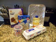 Ice cream cone cupcakes ingredients