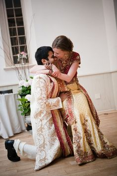 Interacial Wedding, Interacial Couples, Marriage Romance, Love And Marriage, Indian American Weddings, Indian Weddings, Big Fat Indian Wedding, Fantasy Wedding, Indian Outfits