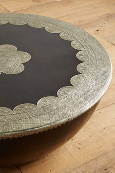 Embossed Meridian Coffee Table - anthropologie.com  Saw this table in the Berkeley store - amazing details.