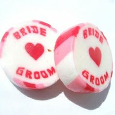£22.49 Bride and Groom Wedding Favour Rock Sweets Red