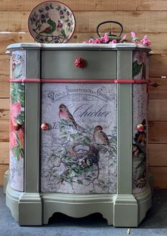 Shop Fine Art Floral Decoupage TIssue Paper created by Roycycled. Funky Painted Furniture, Painted Chairs, Refurbished Furniture, Recycled Furniture, Colorful Furniture, Paint Furniture, Shabby Chic Furniture, Shabby Chic Decor, Furniture Makeover