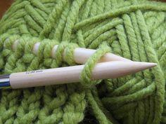 Stricken, Stricknadeln, Grün, Wolle, Wollknäuel