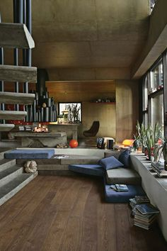 Organically curved wooden floors, whoah!