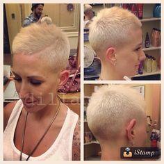 Lady fade haircut