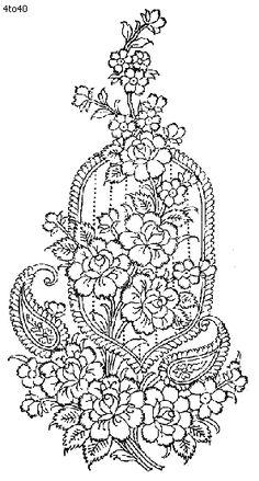 Draw saree border for embroidery designs. Pencil sketch
