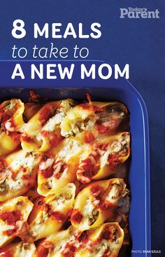 8 meals to take to a new mom -- The last thing new parents have time for is making dinner. Help them out with these recipes that are easy to reheat when hunger strikes. New Mom Meals, Make Ahead Meals, Family Meals, Quick Meals, Take A Meal, Frozen Meals, Have Time, Casserole Recipes, Meal Prep