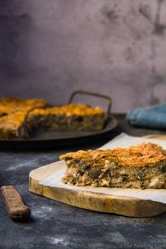 Μελιτζανόπιτα χωρίς φύλλο – Eggplant Pie - The Healthy Cook Butcher Block Cutting Board, Eggplant, Pizza, Beef, Stuffed Peppers, Cooking, Healthy, Desserts, Salt