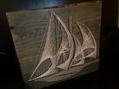 Nautical Sailboat String Art von TheRusticWarehouse auf Etsy