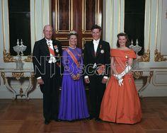 20.7.1991 - KronprinsHaakon 18 år med Kongen og Dronningen og Prinsesse Märtha Louise