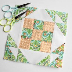 Farmer's Wife 1930s quilt block no. 69 - Mrs. Keller.  Paper-pieced.  Went together fine - nice looking block.