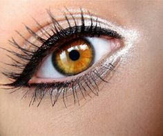 everyday makeup for school or work hazel and brown eyes. silver eyeshadow