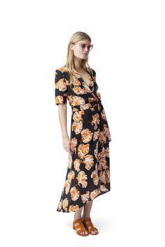 9d46eed3 8 Best Ganni images | Wrap Dress, Women's wrap dresses, Wrap dresses