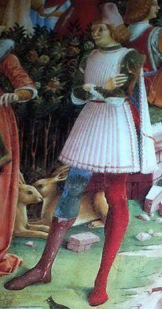Francesco del Cossa, detail from Triumph of May, Ferrara, about 1470.