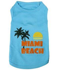 Parisian Pet Miami Beach Dog T-Shirt, Small >>> Discover this special dog product, click the image : Dog Shirts