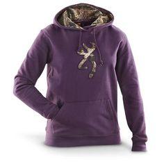 Women's Browning® Camo Buckmark Hooded Sweatshirt