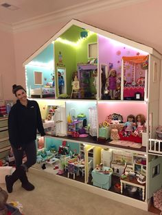 American Doll Dollhouse designed and built by my friend, Sandi! Amazing woman.