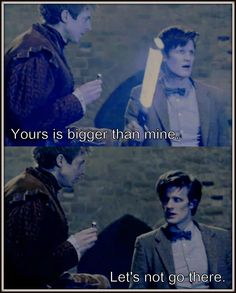 The Doctor and Rory. This totally made me laugh