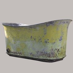 """Antique Signed French Cast Iron Tub.Tub is signed.  23""""H x 62""""l x 24.5""""d"""