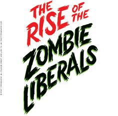 "The Rise of the Zombie Liberals by Post Typography :: ""This lettering treatment dominated the cover of the Washington Post Outlook section and introduced an editorial arguing that liberalism is ""half-dead and half-alive. Typography Letters, Typography Design, Hand Lettering, Creative Typography, Horror Font, Wedding Fonts, Horror Movie Posters, Typography Inspiration, Letter Logo"