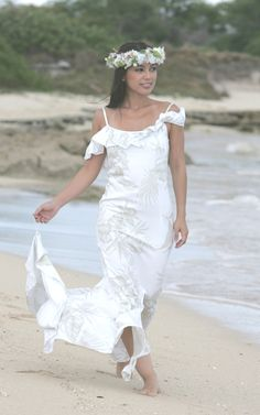 Hawaii beach wedding dress
