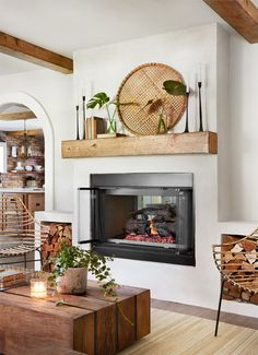 8 Amazing Useful Ideas: Small Living Room Remodel With Fireplace living room remodel before and after fixer upper.Living Room Remodel Before And After Fixer Upper living room remodel ideas garage. Farmhouse Fireplace, Home Fireplace, Fireplace Design, Wood Mantle Fireplace, Fireplace Ideas, Fireplace In Dining Room, Stucco Fireplace, Brick Fireplaces, Brick Fireplace Makeover