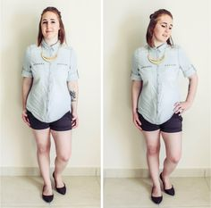 What I wore: Chambray & Gold #style #fashion #outfit #ootd #fashionblog #fblogger #fblog #fashionblogger #outfitidea