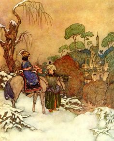 Edmund Dulac - WikiArt.org The Beast's Castle - from Beauty and the Beast