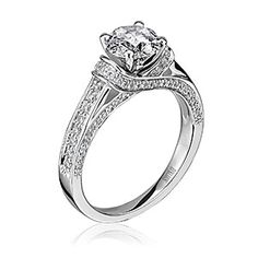 Scott Kay diamond solitaire engagement ring. Available at Spitz Jewelers. https://www.facebook.com/SpitzJewelers (Scott Kay SCOT-1256 Radiance)