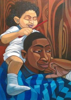 Reminds me of my Daddy & I when I was little. ~You Missed a Spot by Cbabi Bayoc