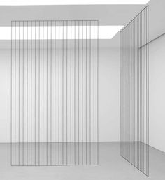 "Acrylic yarn. ""Untitled (Cornered Triangle, Fifth of Ten Cornered Constructions)"" by Fred Sandback"