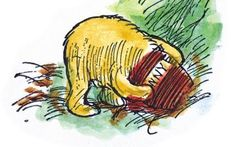 Sketches and vignettes from la Dordogne: On December, Winnie The Pooh Honey, Winne The Pooh, Pooh Bear, Tigger, House At Pooh Corner, Hundred Acre Woods, La Dordogne, Cat Character, Character Design Inspiration
