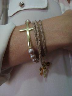 Fernanda Fernandes bijoux - Pulseiras mix crucifixos