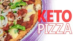KETO PIZZA - HOW TO MAKE LOW CARB PIZZA CRUST (3 Ingredient)