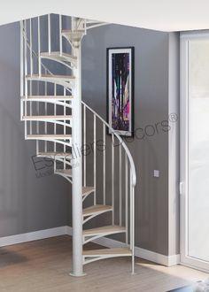 Escalier colimaçon en Kit style Atelier - Escaliers Décors® Decoration, Bunk Beds, Stairs, Furniture, Home Decor, Style, Staircases, Spiral Staircase, Pvc Cladding