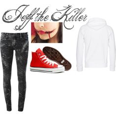 """""""Creepypasta: Jeff the Killer Inspired Outfit"""" by oceana-jade on Polyvore"""