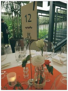Centerpieces at M wedding by OhCarito