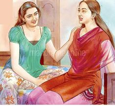 Indian Women Painting, Indian Art Paintings, Sexy Painting, Painting Of Girl, Beautiful Muslim Women, Beautiful Girl Indian, Beauty Full Girl, Beauty Women, Cartoon Girl Drawing