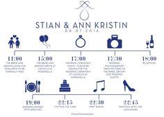 #timetable #wedding #diy #thebigday #casamento #guest #schedule InDesign: Daniel Kårbø