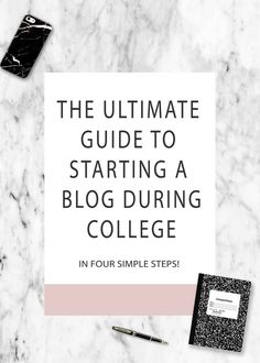 Guide to Starting a Blog During College