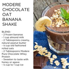 Naturally packed with branched-chain amino acids, this delicious protein powder promotes lean muscle growth and recovery. Shake Recipes, Smoothie Recipes, Low Carb Recipes, Vegan Recipes, Homemade Trail Mix, Tea Smoothies, Healthy Smoothies, Chocolate Oats, Vegetarian Italian