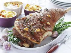 The legg of a lamb, our way! Goat Recipes, Dinner Recipes, Dessert Recipes, Cooking Recipes, Desserts, Norwegian Food, Lamb Dishes, Steak, French Toast