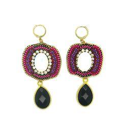 Amber     Ibiza Oorbellen Lovely boho bohemian handmade earrings Gypsy Lovers Ibiza Jewellry www.gipsyibiza.nl gemstones pearls Ibiza fashion