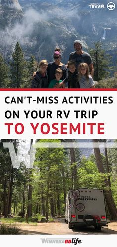 Yosemite National Park is a magical place and one of those locations you should visit at least once in your lifetime. Check out this article for great tips on the best hikes camping and other tips and cant-miss activities for families. Ways To Travel, Rv Travel, Travel Destinations, Budget Travel, Camping Trailer For Sale, Camping Trailers, Rv Camping, Yosemite National Park, National Parks