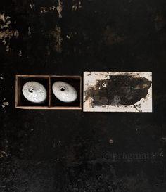 """Ceramic Cargo"" Mixed media painting, ""fishing boat"", Gaku Matsuoka. Ceramic bottles, Jane Wheeler  「陶船荷」 絵画、""漁船""、松岡学 陶芸ボトル、ジエーン・ウイラー #pragmata"