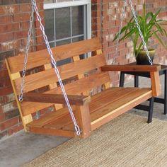 TMP Outdoor Furniture Homestead Cedar Wood Hanging Garden Swing