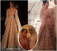 Fashion Designer Ridhi Mehra wears http://www.Sabyasachi.com/ for her wedding w/ Akshay Sekhri, Feb, 2015