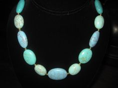 Ralph Lauren 14k Gold Plated Reconstituted Turquoise Necklace Mint Condition | eBay